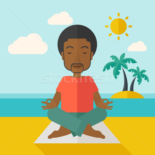 Yoga man Stock photo © RAStudio
