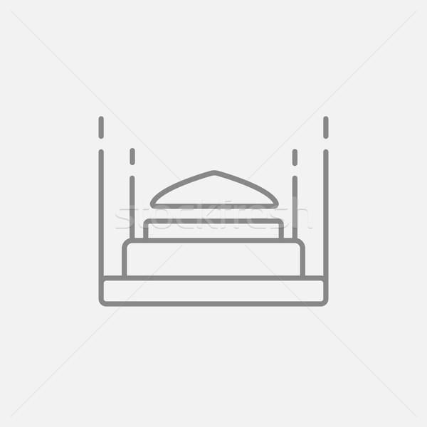 Taj Mahal ligne icône web mobiles infographie Photo stock © RAStudio