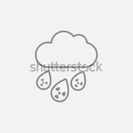 放射性 雲 雨 行 アイコン ウェブ ストックフォト © RAStudio