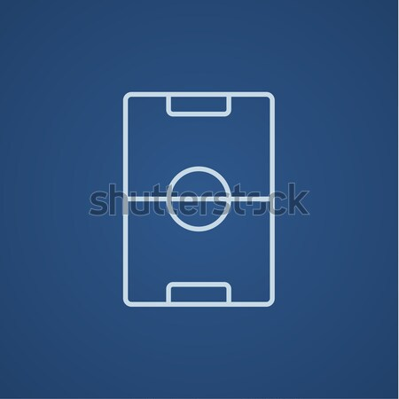 Estadio disposición línea icono web móviles Foto stock © RAStudio