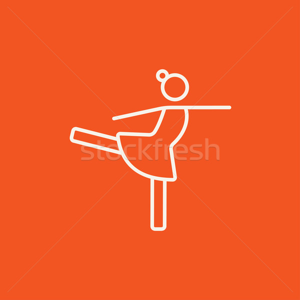 Femminile figura skater line icona web Foto d'archivio © RAStudio
