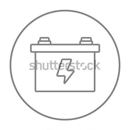 Car battery line icon. Stock photo © RAStudio