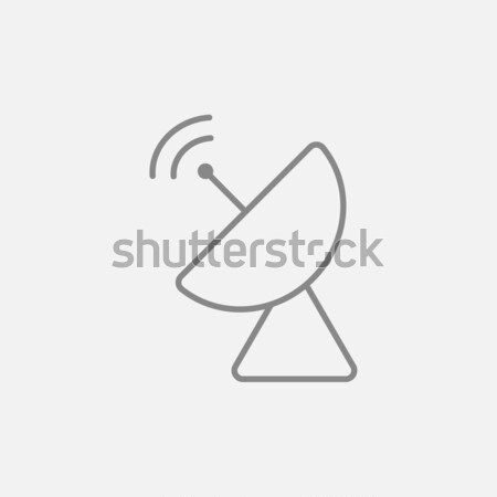 Radar antena satelitarna line ikona internetowych komórkowych Zdjęcia stock © RAStudio