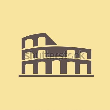 Coliseum line icon. Stock photo © RAStudio