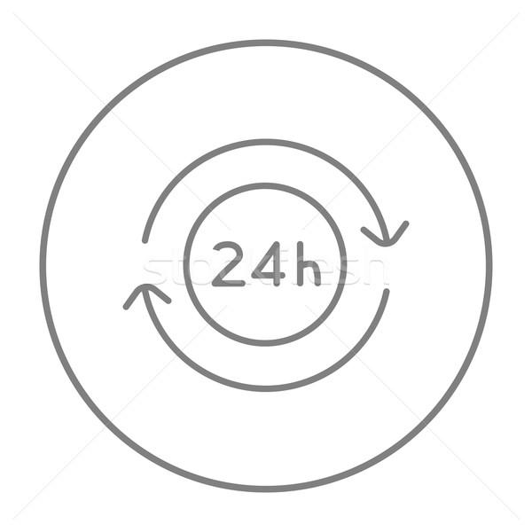 Hizmet 24 hat ikon web hareketli Stok fotoğraf © RAStudio