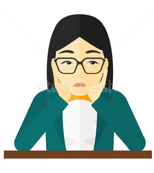 Vrouw wanhoop hoofd asian vector ontwerp Stockfoto © RAStudio
