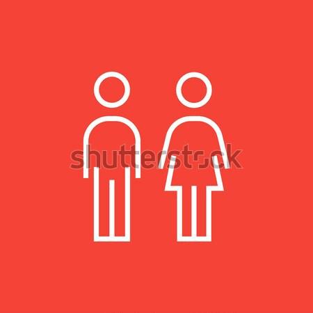 Couple line icon. Stock photo © RAStudio