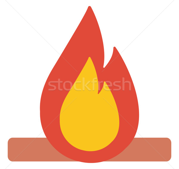 Camp fire burning brightly. Stock photo © RAStudio