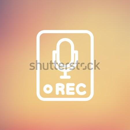 レコード ボタン 行 アイコン コーナー ウェブ ストックフォト © RAStudio