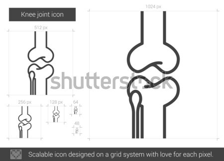Knee joint line icon. Stock photo © RAStudio