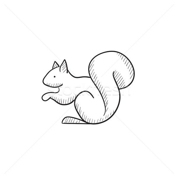 écureuil croquis icône vecteur isolé dessinés à la main Photo stock © RAStudio