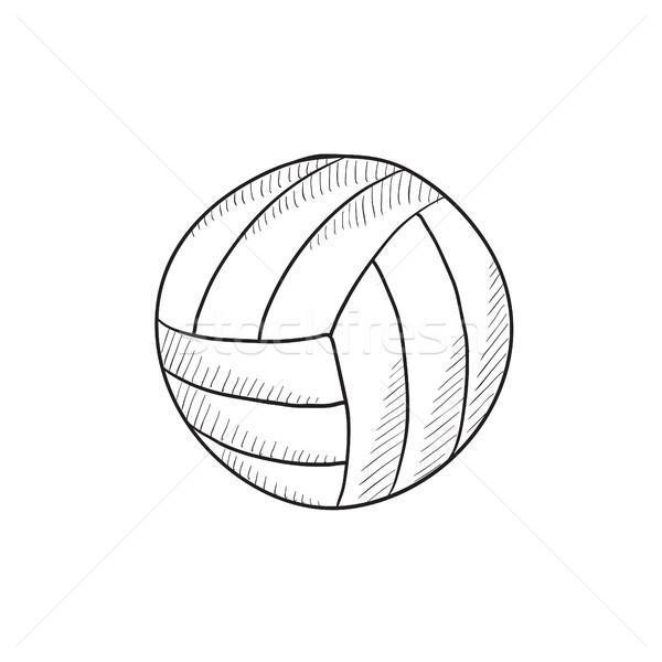 バレーボール ボール スケッチ アイコン ベクトル 孤立した ストックフォト © RAStudio