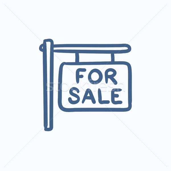 For sale placard sketch icon. Stock photo © RAStudio