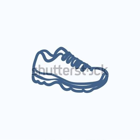Sneaker sketch icon. Stock photo © RAStudio