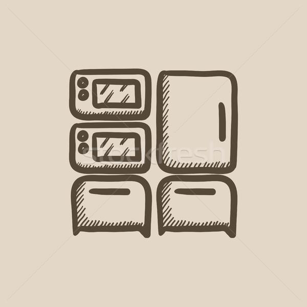 Household appliances sketch icon. Stock photo © RAStudio
