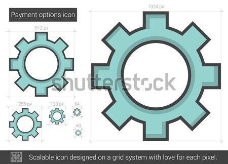 Betaling opties lijn icon vector geïsoleerd Stockfoto © RAStudio