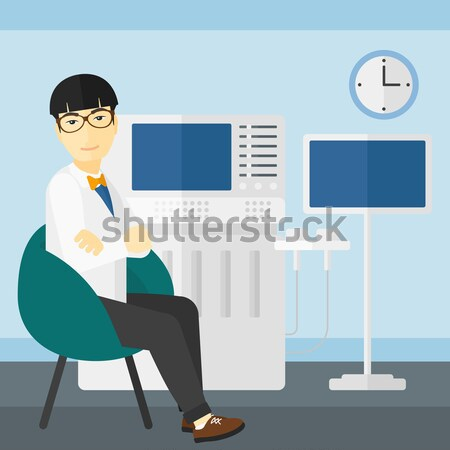 Female ultrasound doctor vector illustration. Stock photo © RAStudio