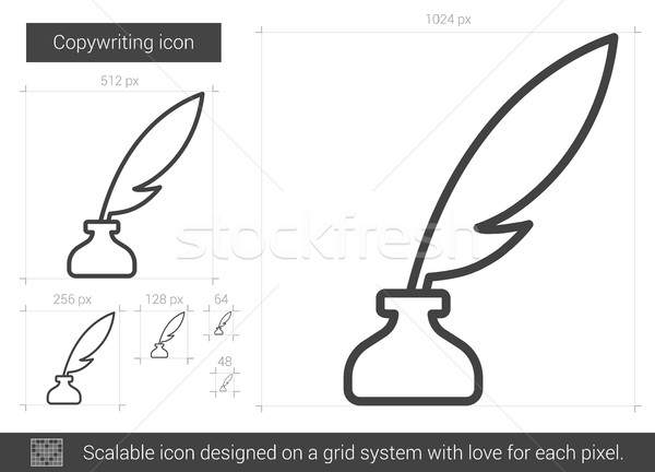 Stock photo: Copywriting line icon.