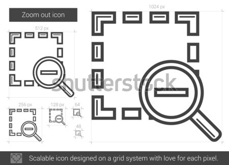Zoom fuori line icona vettore isolato Foto d'archivio © RAStudio