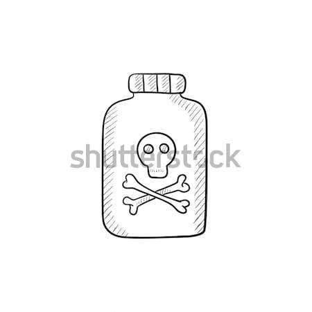 Bottle of poison sketch icon. Stock photo © RAStudio