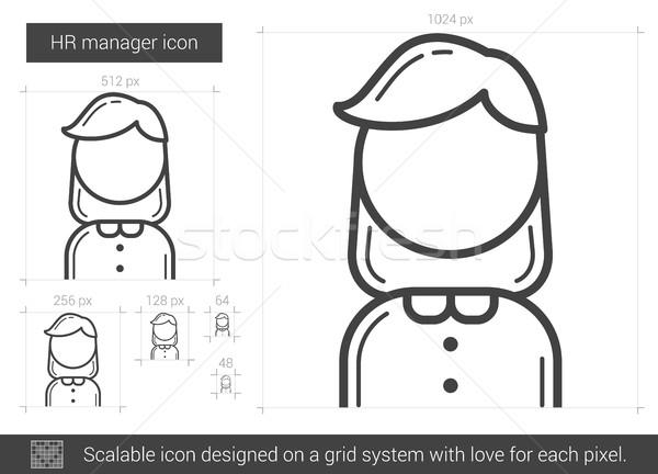 HR manager line icon. Stock photo © RAStudio