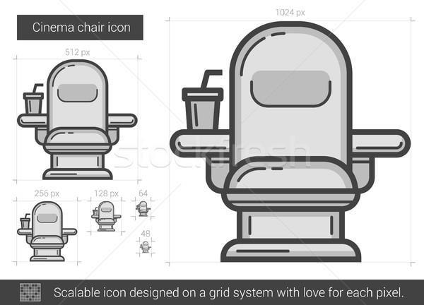 映画 椅子 行 アイコン ベクトル 孤立した ストックフォト © RAStudio