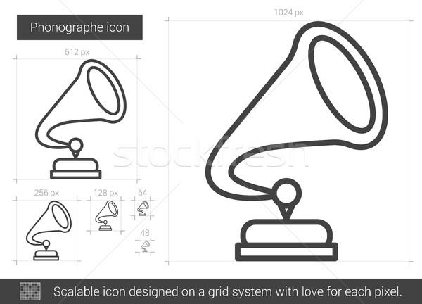Phonographe line icon. Stock photo © RAStudio
