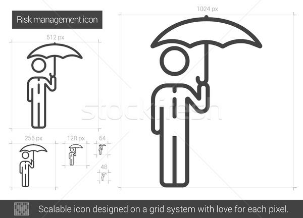 Risico lijn icon vector geïsoleerd witte Stockfoto © RAStudio