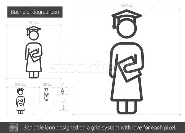 Vrijgezel lijn icon vector geïsoleerd witte Stockfoto © RAStudio