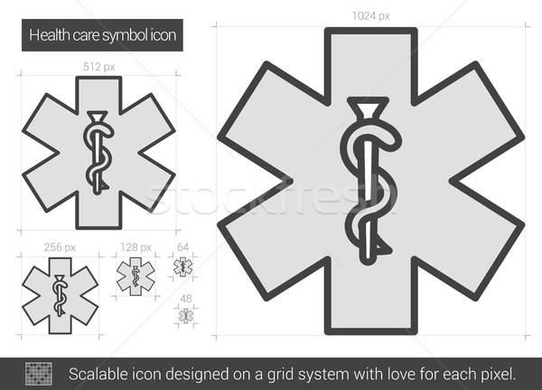 Health care symbol line icon. Stock photo © RAStudio