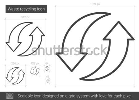 Desperdiçar reciclagem linha ícone vetor isolado Foto stock © RAStudio