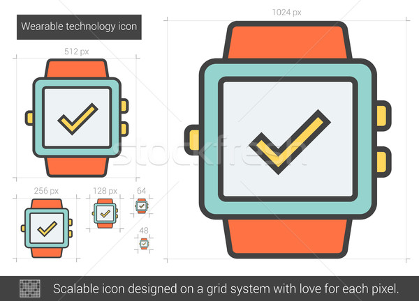Wearable technology line icon. Stock photo © RAStudio