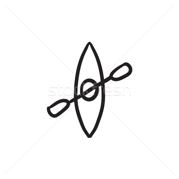 カヤック スケッチ アイコン ベクトル 孤立した 手描き ストックフォト © RAStudio