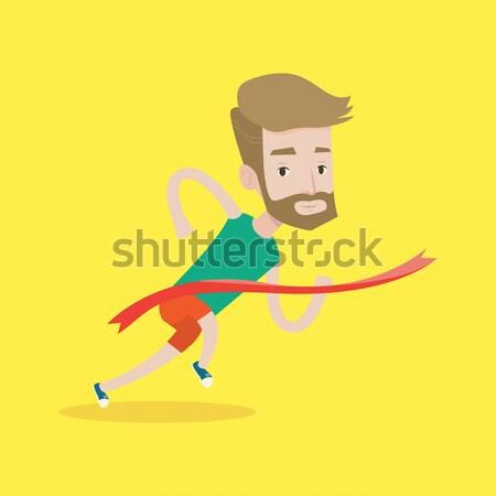 Atlet kazanan genç kafkas Stok fotoğraf © RAStudio