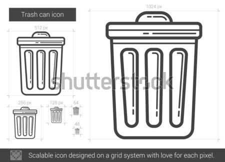 Trash can line icon. Stock photo © RAStudio