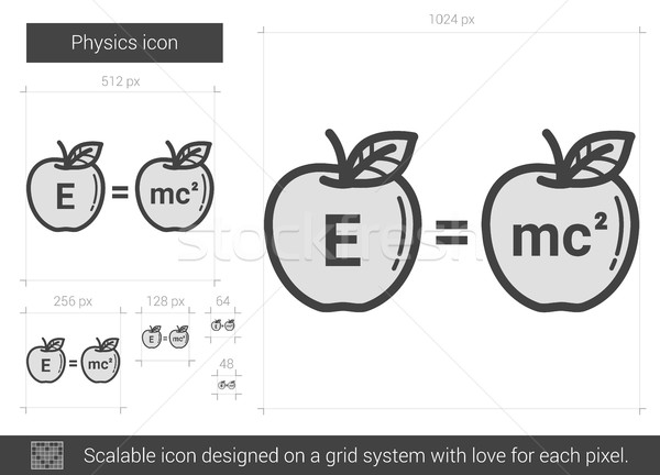 Physik line Symbol Vektor isoliert weiß Stock foto © RAStudio