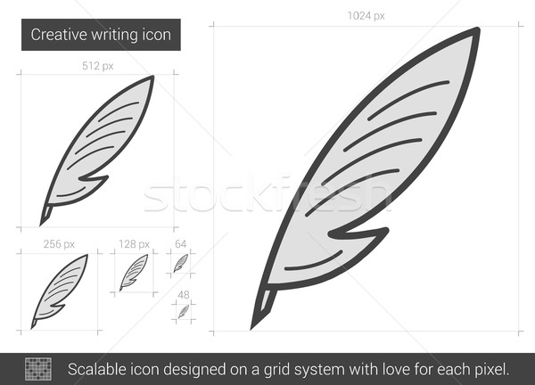 Creative writing line icon. Stock photo © RAStudio