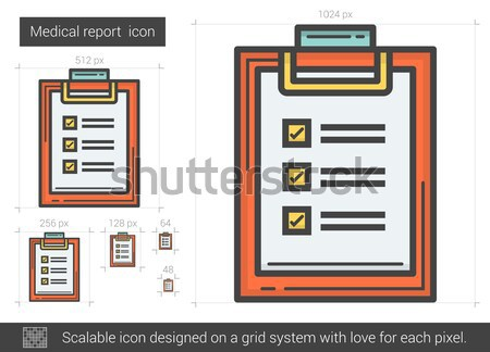 Medical report line icon. Stock photo © RAStudio