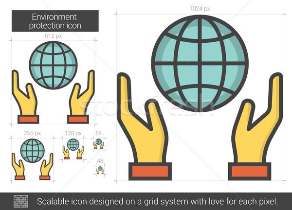 Medio ambiente protección línea icono vector aislado Foto stock © RAStudio