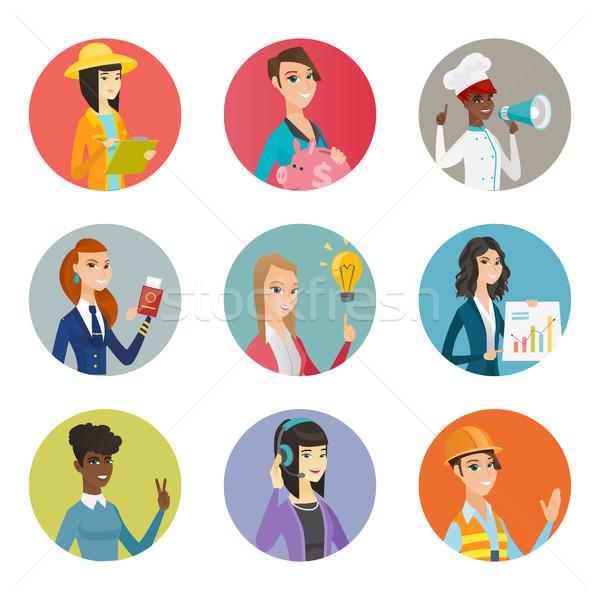 Vector set of characters of different professions. Stock photo © RAStudio