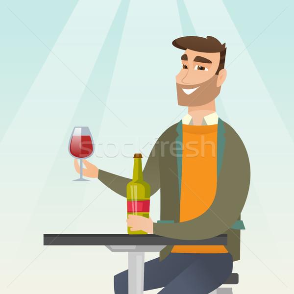 Man drinking wine in the restaurant. Stock photo © RAStudio
