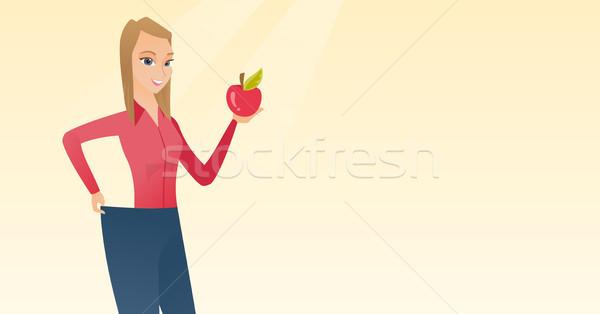 тонкий женщину брюки диета Сток-фото © RAStudio
