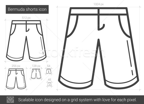 Shorts línea icono vector aislado blanco Foto stock © RAStudio