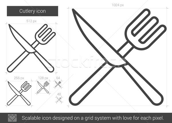 Cutlery line icon. Stock photo © RAStudio