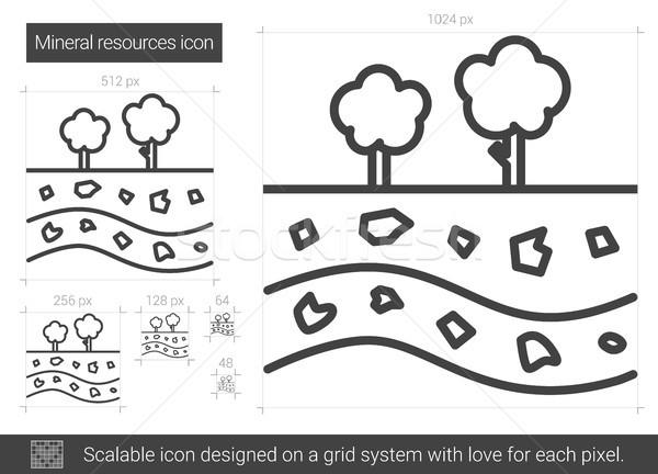 минеральный ресурсы линия икона вектора изолированный Сток-фото © RAStudio