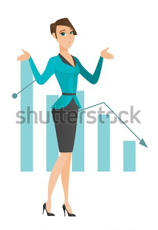 Bancrupt caucasian businessman with spread arms. Stock photo © RAStudio