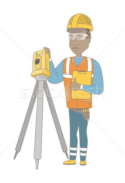 африканских строителя рабочих молодые Постоянный Сток-фото © RAStudio