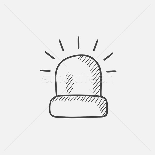 Siren light sketch icon. Stock photo © RAStudio