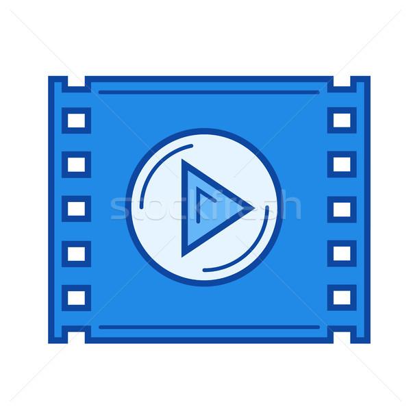 Video play line icon. Stock photo © RAStudio