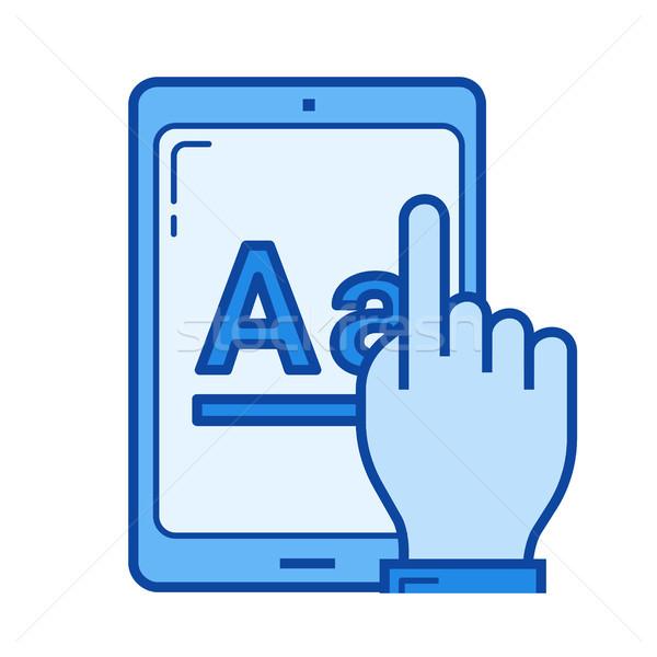 Online education app line icon. Stock photo © RAStudio